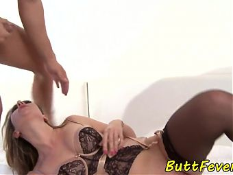 Assfucked babe loves hard pounding