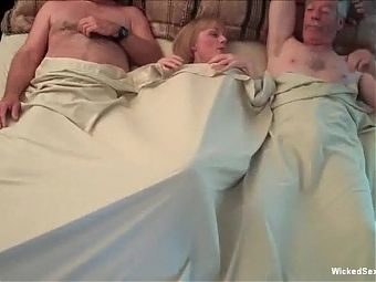 Threesome For Horny Amateur GILF