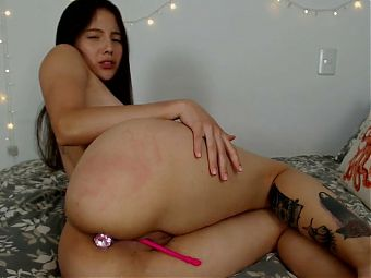 Naughty petite girl loves anal